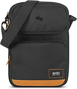 Solo New York Ludlow Universal Tablet Sling Bag, Black/Tan
