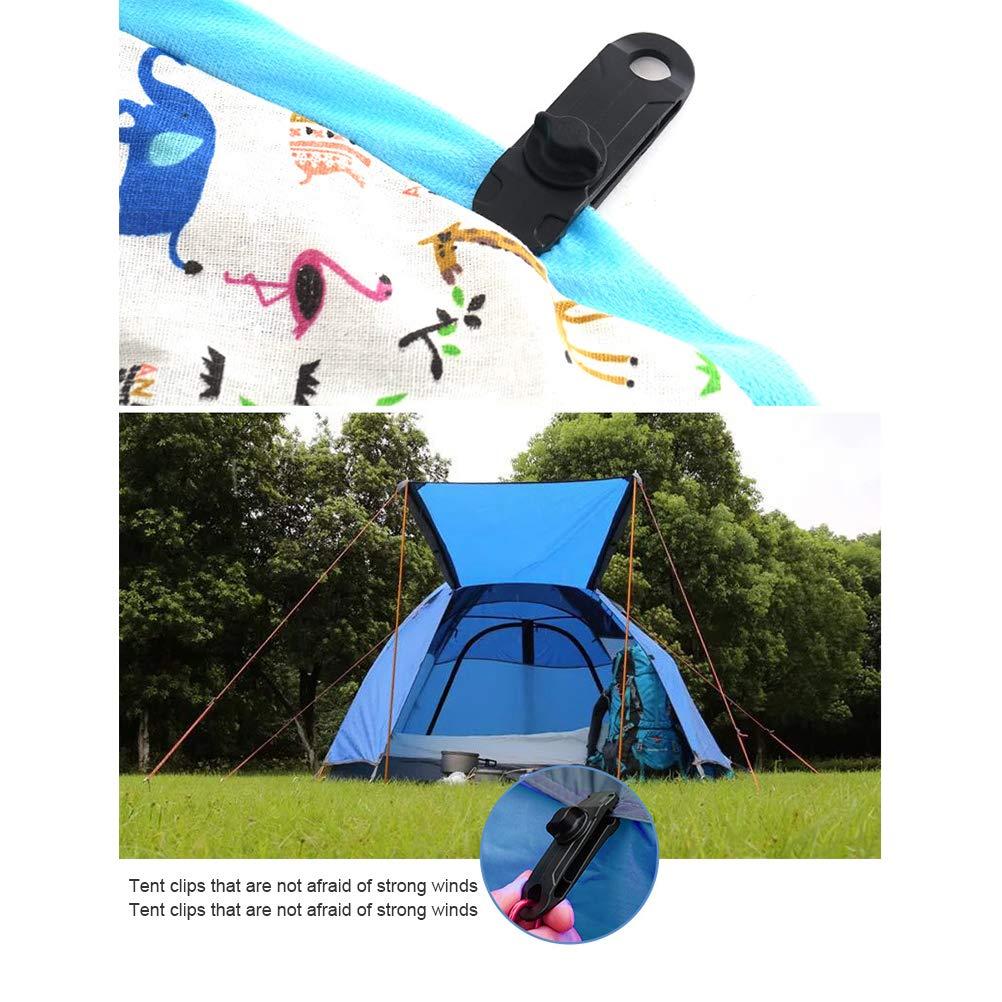 4pcs Clips de Bâches en Plastique Pince pour Camping Auvents Tentes en Toile