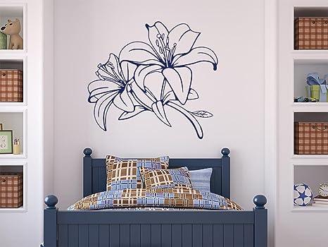 GRAZDesign Deko Wohnzimmer modern, Wandtattoo Blumen, Schmetterlinge  Schlafzimmer, Küche, Blumenranken und Pflanzen an die Wand / 63x57cm / 040  ...