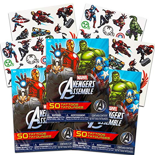 Savvi 50 Temporary Tattoos, Marvel Avengers Assemble, 3-pack (150 -