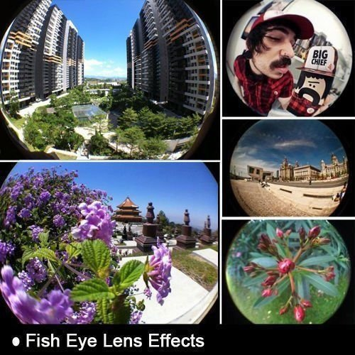 Gozebra(TM) 3 in1 Fish Eye+ Wide Angle + Macro Camera Clip-on Lens for iPhone 6/Plus Xed