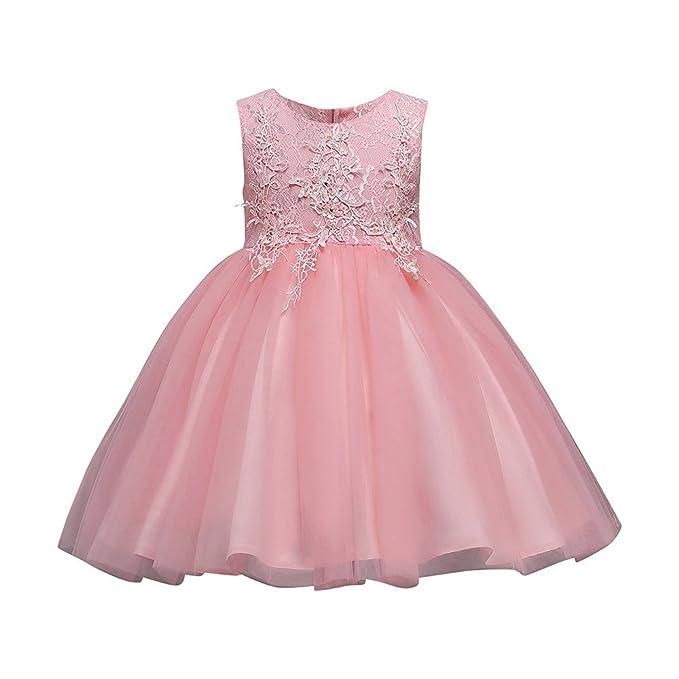 Kinder Mädchen Kleid Baby Festlich Kinderkleid Blumensmädchenkleid  Prinzessin Kleid Mesh Festzug Hochzeit Kleid Tutu Tulle Gown 0759bfbcbc