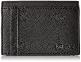 Jack Spade Men's Barrow Leather Id Wallet, Black, One Size