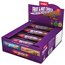 Unibic Snack bar Fruit and Nut Choco Pack of 12, 360g
