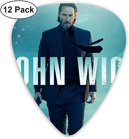 Davida Keanu Reeves-John Wick púas de celuloide para Guitarra (12 Unidades) para Guitarra eléctrica, Guitarra acústica, mandolina y bajo de Guitarra: Amazon.es: Hogar