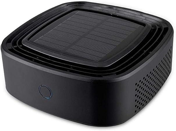 Hokaime Energía Solar portátil Purificador de Aire del Coche Vehículo Ionizador más Fresco Filtro de Aire Anion Freshner El Ruido más bajo, Negro: Amazon.es: Hogar