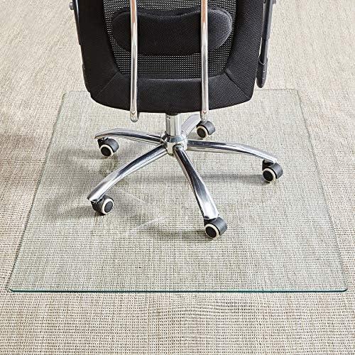 Tempered Glass Chair Mat, 36 46 , 1 5 Inch Thick Office Chair Mat Carpet Hardwood Floor, Chair Mats for Carpeted Floor, Chair Mat for Hardwood Floor, Desk Chair Mat, 4 Anti-Slip Pads
