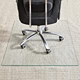 "Best Chair Mat For Thick Carpets - Tempered Glass Chair Mat, 36""×46"", Office Chair Mat Review"