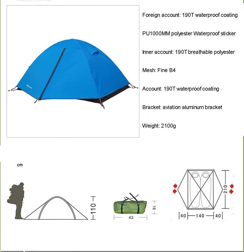Tienda de campaña de 3 Estaciones Toldo de Sombra al Aire Libre Lona Impermeable para montañismo de Supervivencia en el Desierto-Carpas para 2 Personas Green