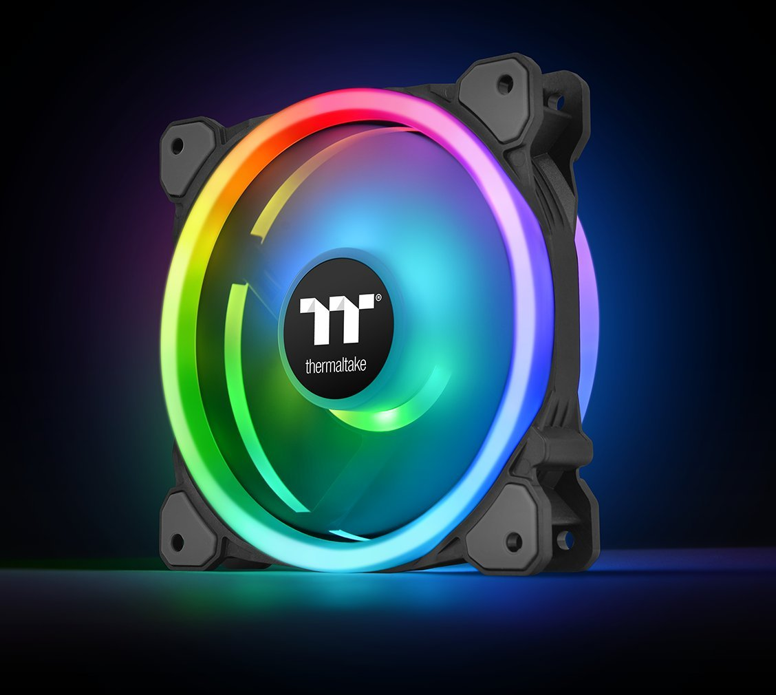 Thermaltake Riing Trio 12 RGB TT Premium Edition 120mm Software Enabled 30 Addressable LED 9 Blades Case/Radiator Fan - 3 Pack - CL-F072-PL12SW-A by Thermaltake (Image #10)
