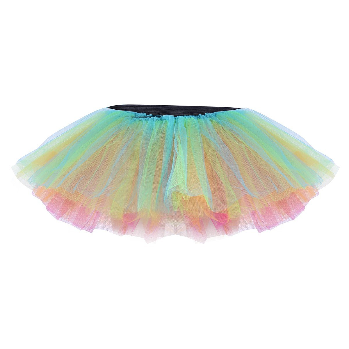 f707448c1ef TiaoBug Tutu Ballet Robe Femme Adulte Tulle 5 Couches Déguisement Costume  Femme Tutu Danse Cosplay Femme Mini Jupe