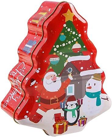 Yunt-11 Forma de Navidad Cajas de anidación de latas de Galletas navideñas, diseños Contenedores navideños Suministros para Fiestas con Tapa de Metal: Amazon.es: Hogar
