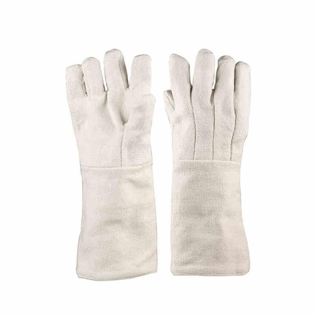 Ceramic fiber anti - 1000 ° insulation gloves industrial heat - resistant high temperature experimental labor insurance gloves