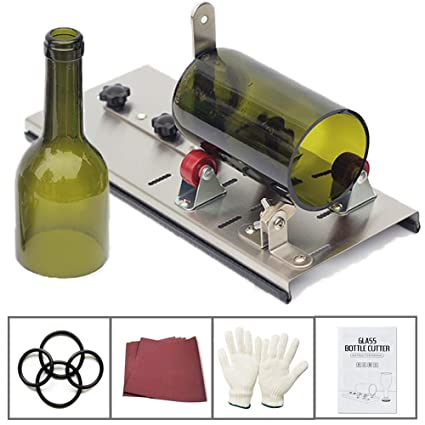 Cortador de botellas de acero inoxidable para cortador de botellas de vino para lámpara creativa, vela o maceta