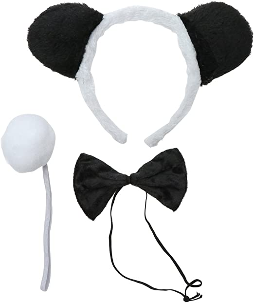 Amosfun 3 unids Disfraces de Panda Diadema Niños Diadema Panda ...