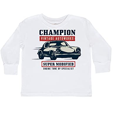 21f1598e2 inktastic - Classic Racing Champion Toddler Long Sleeve T-Shirt 2T White  339d5