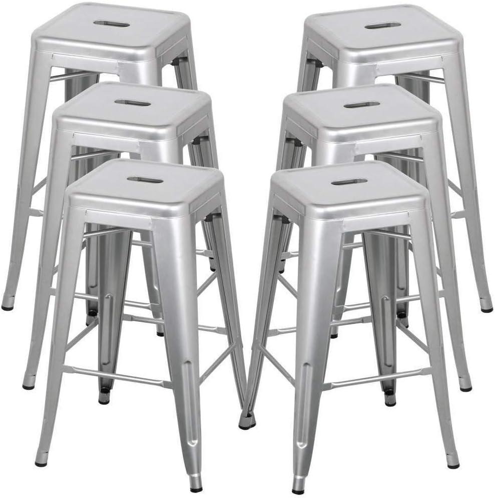 caf/é Estink Table de bistrot carr/ée en MDF et acier pour restaurant bar couleur ch/êne usage domestique 80 x 80 x 75 cm
