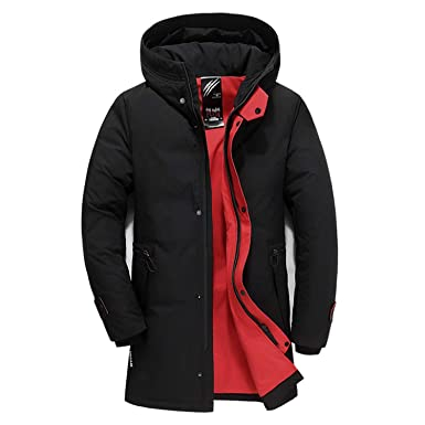 b19e439ed Winter Down Jacket Slim Hooded Thick Warm White Duck Down Long Coat ...