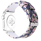 Antemart for Apple Watch Band 38mm 42mm, Replacement Silicone Sport Bands Bracelet Strap Wristband Watchband for iwatch Series 3 Series 2 Series 1 Nike+ Hermes Edition,Printed