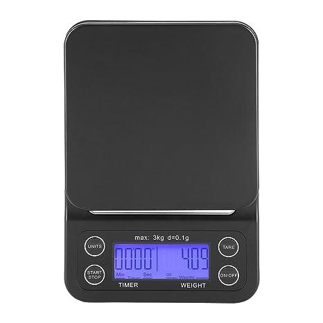 Báscula Digital Cocina de Café Electrónico de Goteo de Escala de Comida de 3KG / 0.1