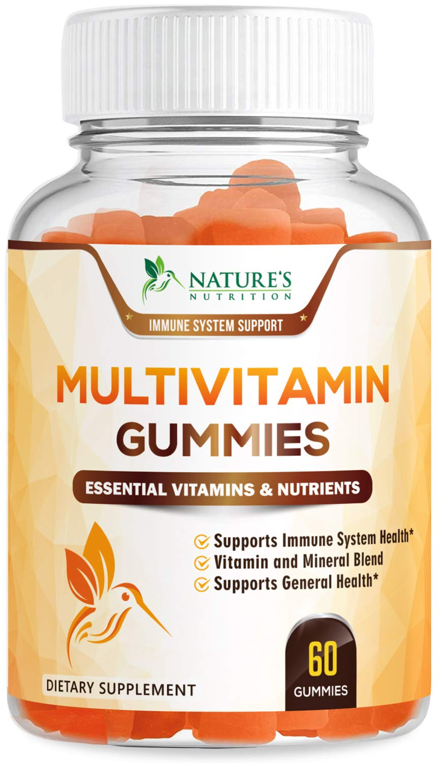 Multivitamin Gummies High Potency Adult Vitamin Gummy - Natural Complete Daily Supplement - Made in USA - Best Vegan Multi with Vitamins A, C, E, B6, B12 for Men and Women, Non-GMO - 60 Gummies