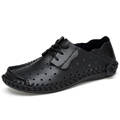 Men's Casual Penny loafer Split Leather as Slippers Moccasin Loafer Flat OxfordStitching Honeycomb Hiking & Driving Shoes Durable Soft Leather.