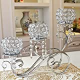 Creative branches alloy Crystal pendant Lantern candle holder , silver
