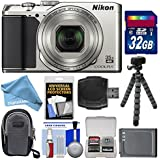 Nikon Coolpix A900 4K Wi-Fi Digital Camera (Silver) with 32GB Card + Case + Battery + Flex Tripod + DigitalAndMore Free Deluxe Accessory Bundle Kit