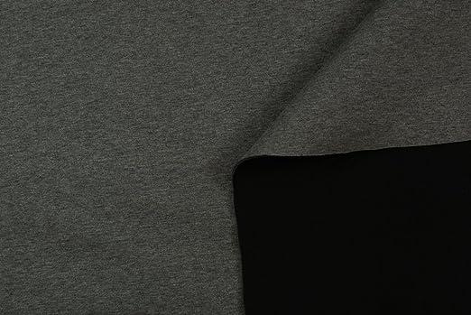 Tela al metro color tela neopreno bifoderato de algodón negro y gris 3 mm: Amazon.es: Hogar