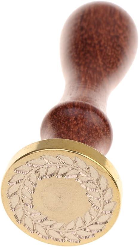 Prosperveil Vintage-Metall-Siegelwachsstempel mit Griff f/ür Briefe Karten Einladungen Siegelstempel gold Hochzeiten