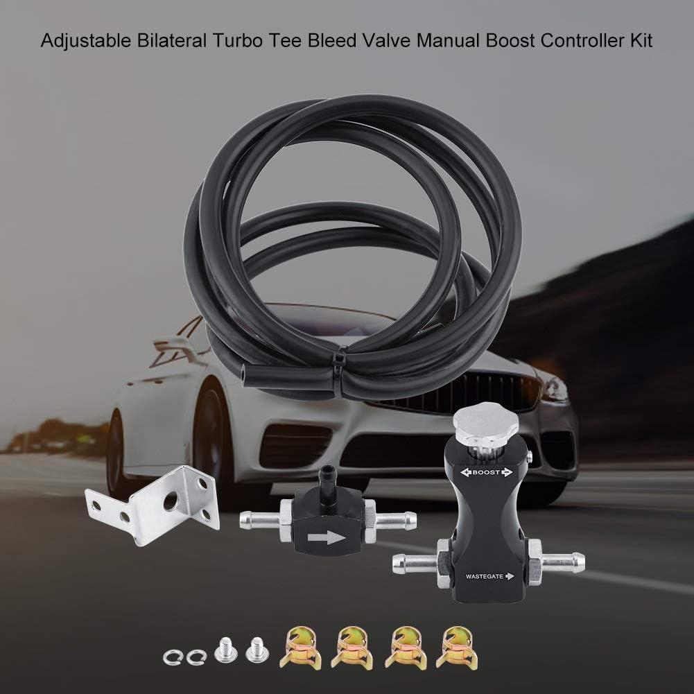 Boost Controller-Material Einstellbares beidseitiges Turbo-T-Entl/üftungsventil Manueller Boost Controller-Kit Universal for das Auto