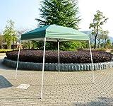 Polar Aurora 10′ X 10′ 5 Color Slant Leg Easy Pop up Popup Canopy Party Sun Shade Tent (Green) For Sale