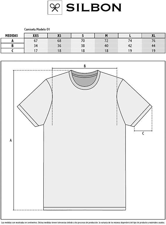 SILBON - Camiseta Amarilla Raqueta Marina para Hombre: Amazon ...