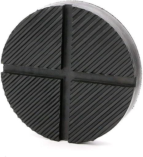 DEDC 1 Pezzo Tampone in Gomma per Cric Sollevatore Auto Ponte con Scanalatura Spessori per Cric Evitano Graffi Danni Resistente Universale Jack Pad Nero