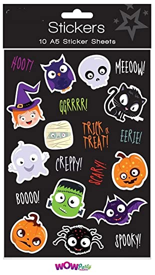 Henbrandt 36 Packs of Spooky Halloween Stickers Trick or Treat Party Bag Fillers and Favors