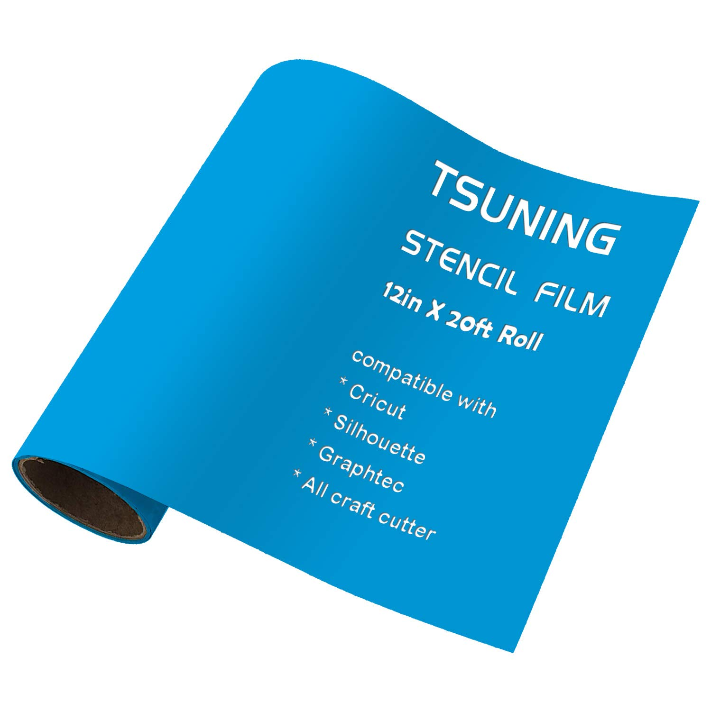 Stencil Film Roll Vinyl - 12.125 inch X 20 Ft for Cricut, DIY Crafting, Silhouette, Cameo Vinyl Stencil Film, craft cutters