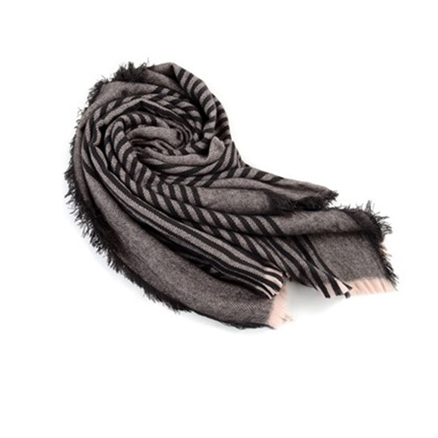 2016 Women's Cozy Tartan Scarf Wrap Shawl Neck Stole Warm Plaid Checked Pashmina (Dark Gray)