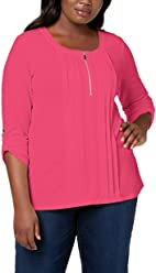 3298e48865e NY Collection Women s Plus Size Pleated Top