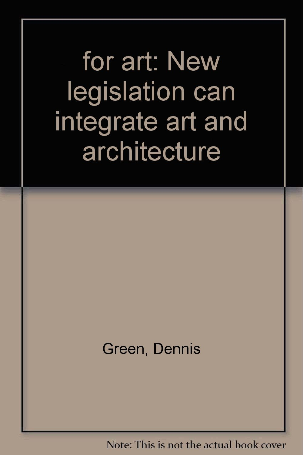 for art new legislation can integrate art and architecture