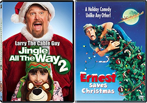 Jingle Ernest Pack Saves Christmas Residence Alone & Larry the Cable Man Jingle All of the Manner 2-DVD Vacation Bundle Double Function
