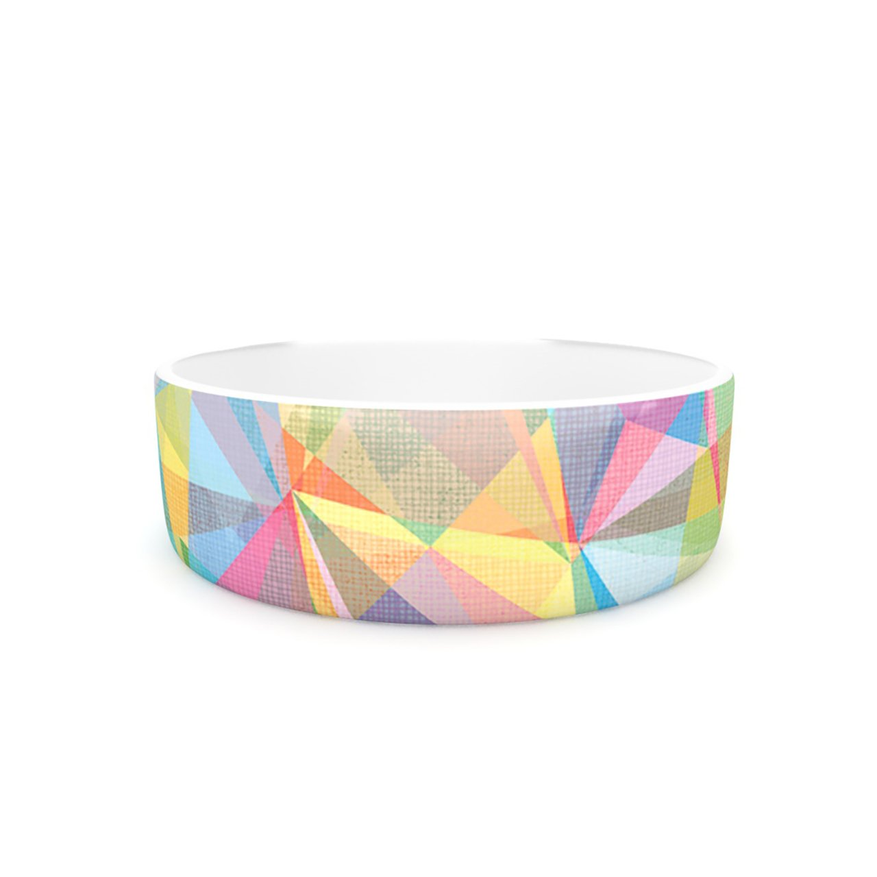 Kess InHouse Mareike Boehmer Graphic 32  Pet Bowl, 7-Inch, Rainbow Abstract