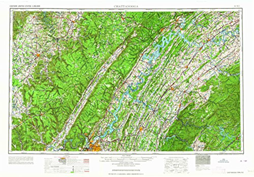 Laurel Glen Reds (Chattanooga TN topo map, 1:250000 scale, 1 X 2 Degree, Historical, 1964, 22.1 x 32 IN - Paper)