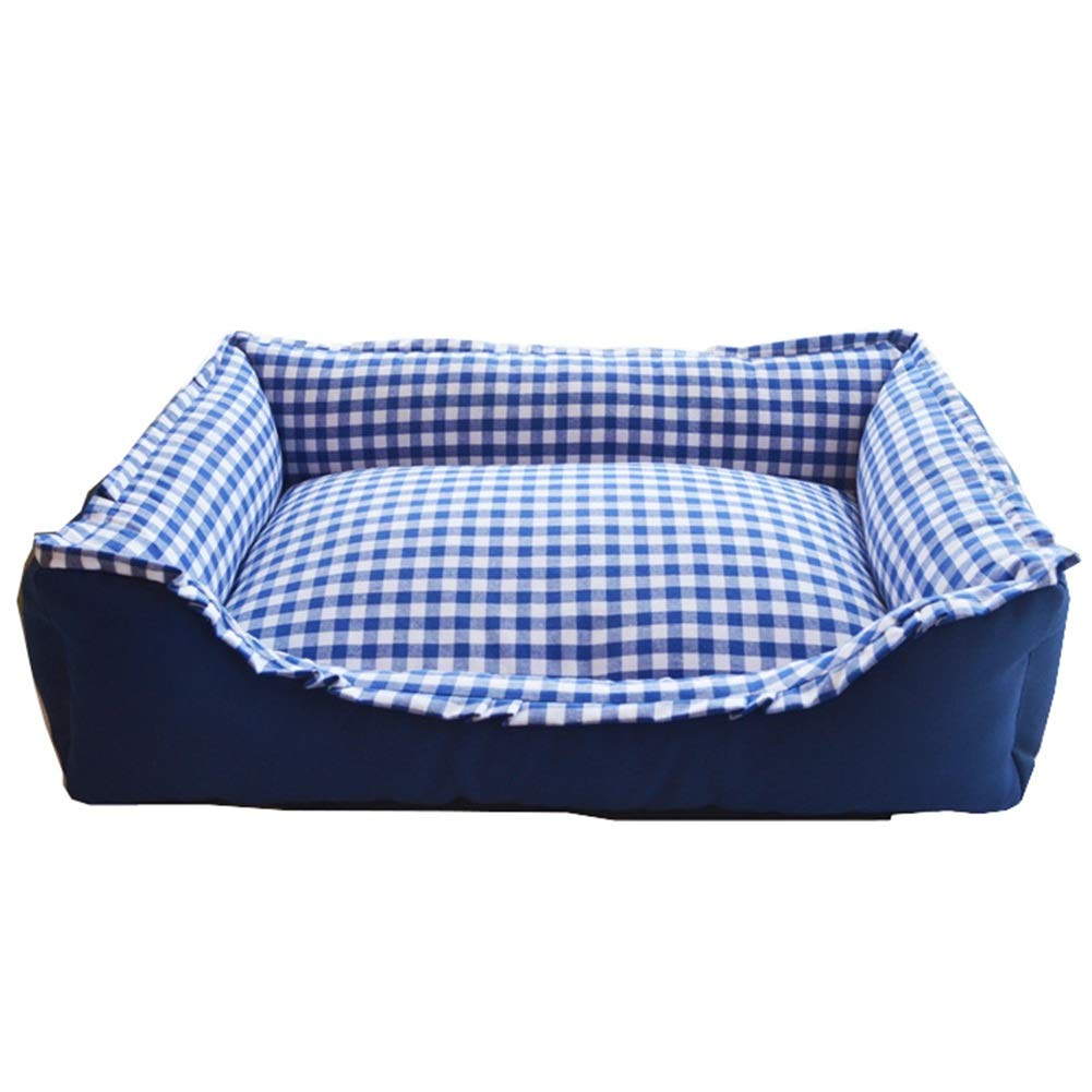 bluee SGOUWO Kennel Warm Washable Pet Nest Kennel Small And Medium Kennel Pet Bed Cat Litter Cat House Washable Four Seasons Available (color   BLACK, Size   M)
