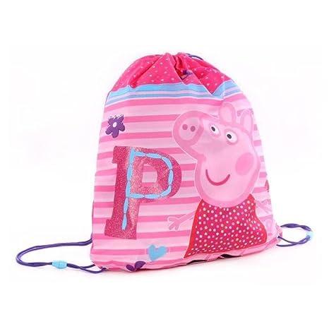 peppa pig sac piscine fille 44cm fuchsia - Jeux De Peppa Pig A La Piscine