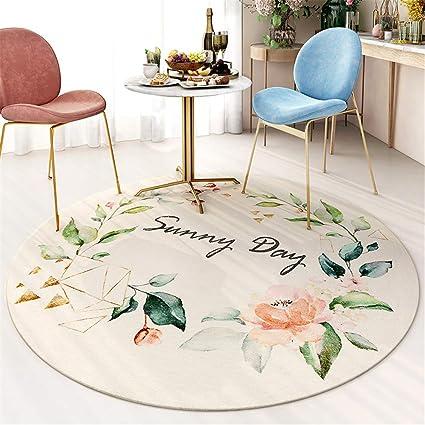 tapis rond doux antiderapant pour salon