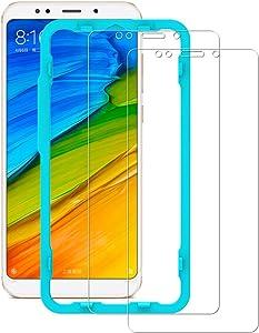 Flos Protector Pantalla Xiaomi Redmi 5 Plus [2 Piezas] [Fácil de Instalar] [Garantía de por Vida], Cristal Templado 9H Dureza [3D Touch Compatible], Anti-Huella para Xiaomi Redmi 5 Plus