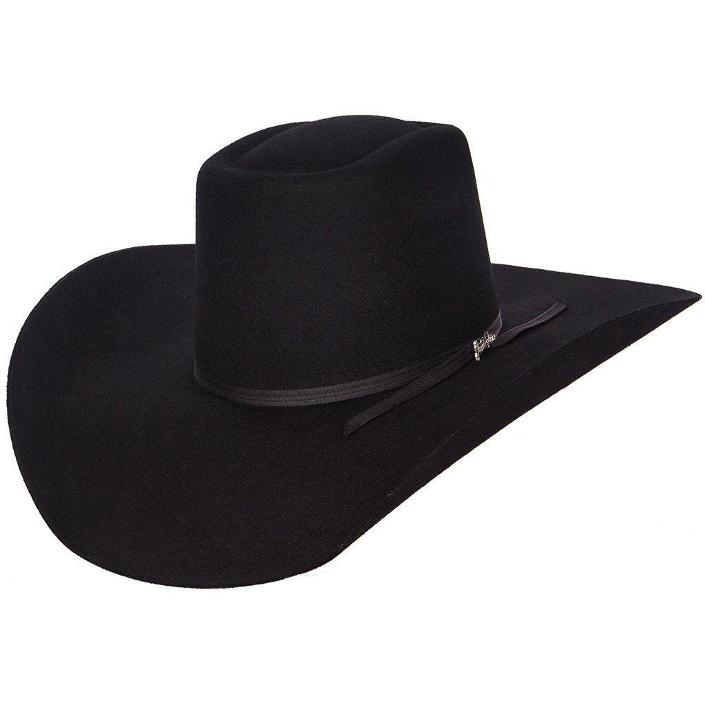 20X Tombstone Longhorn Felt Hat (7 3/8, Black)