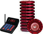 NADAMOO Restaurant Pager System with 10 Coaster Pager Wireless Paging System