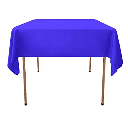 GlaiEleh Square Tablecloth   54 X 54 Inch   Royal Blue Square Table Cloth  For Square