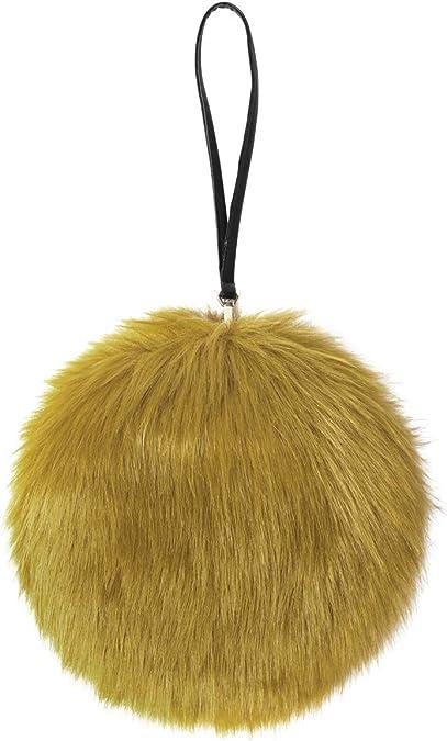 Bag with Handle Purse Large Aqua Faux Fur Wristlet Medium Small Clutch